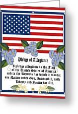 Pledge Of Allegiance Greeting Card by Anne Norskog