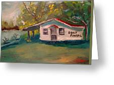 Plein Air Study Worms And Crickets Greeting Card