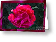 Plentiful Supplies Of Pink Peony Petals Abstract Greeting Card