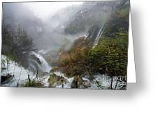 Plitvice Lakes In Winter 4 Greeting Card