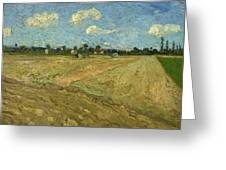 Ploughed Fields - The Furrows Greeting Card