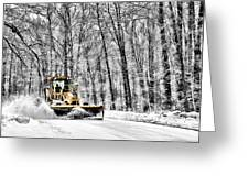 Plowin Snow Greeting Card