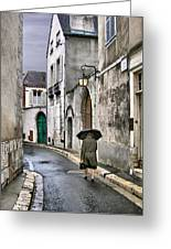 Pluie A Chartres - 1 Greeting Card