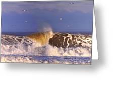 Plum Island Waves Greeting Card