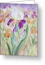 Plum Pudding Iris Greeting Card