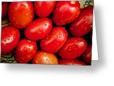 Plum Tomatoes Greeting Card