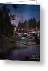 Plumas River In Sierras Greeting Card