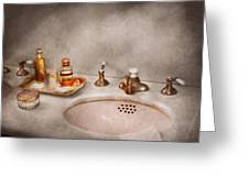 Plumber - First Thing In The Morning Greeting Card by Mike Savad