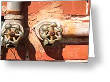 Plumbing And Mortar Greeting Card by Douglas Barnett