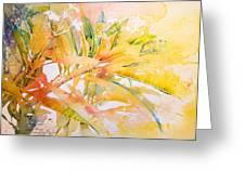Plumeria Fireworks Greeting Card