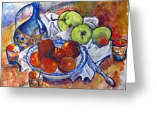 Plums Apples Greeting Card