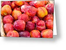 Plums In A Basket Greeting Card