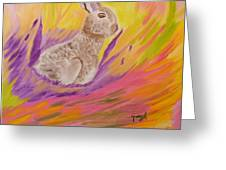 Plunge Into Your Painting Greeting Card