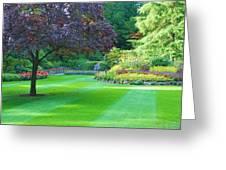 Plush Landscape Bucshart Gardens Greeting Card