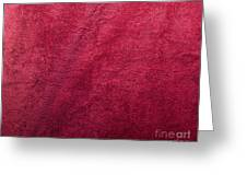 Plush Red Texture Greeting Card