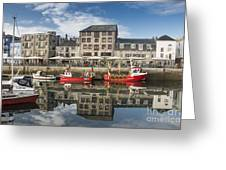 Plymouth Barbican Harbour Greeting Card by Donald Davis