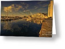 Plymouth Barbican Marina  Greeting Card