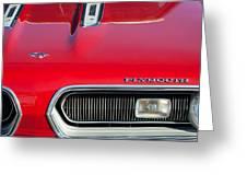 Plymouth Barracuda Grille Emblem Greeting Card