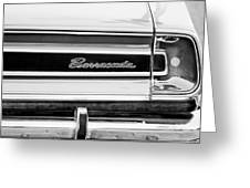 Plymouth Barracuda Taillight Emblem -0711bw Greeting Card