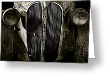 Plymouth Grill Black And White Greeting Card