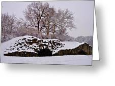 Plymouth Meeting Lime Kilns In The Snow Greeting Card