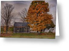 Plymouth Notch Barn In The Fall Greeting Card