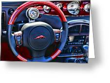 Plymouth Prowler Steering Wheel Greeting Card