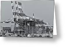Pnct Facility In Port Newark-elizabeth Marine Terminal II Greeting Card