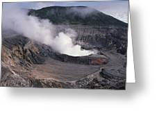 Poas Volcano National Park Costa Rica Greeting Card