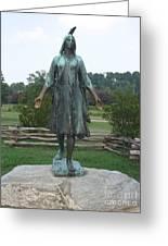 Pocahontas Sculpture Greeting Card