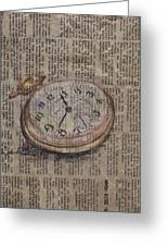 Pocket Watch Greeting Card