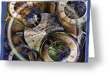 Pocketwatches Greeting Card by Steve Ohlsen