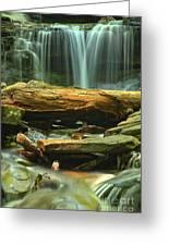Poconos Cascades Greeting Card
