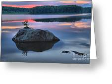 Poconos Sunset Mirror Greeting Card