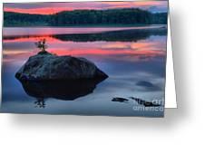 Poconos Lake Whitney Sunset Silhouette Greeting Card