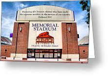 Poe Plaza - Clemson University Greeting Card