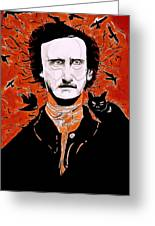 Poe Poe Greeting Card
