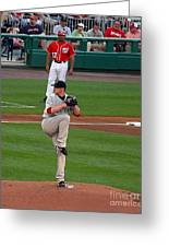 Jon Lester Poetry In Motion Greeting Card