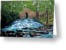 Poinsett Bridge I, Historic Landmark In Upstate Of South Carolina Greeting Card