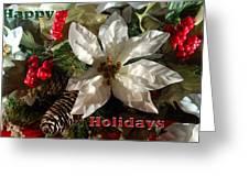 Poinsetta Christmas Card Greeting Card