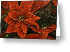 Poinsettia 2 Greeting Card by Elena  Constantinescu