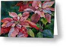 Poinsettia Pair Greeting Card