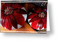 Poinsettias - Handmade - Crafts - Pumpkins Greeting Card