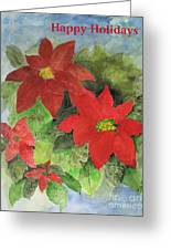 Poinsettias Holiday Card Greeting Card