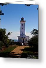 Point Abino Lighthouse Path Greeting Card