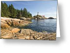 Point Atkinson Lighthouse In Vancouver Bc Greeting Card