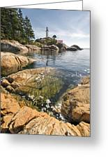 Point Atkinson Lighthouse In Vancouver Bc Vertical Greeting Card