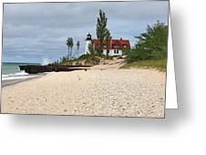 Point Betsie Lighthouse Classic View Greeting Card