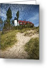 Point Betsie Lighthouse On Lake Michigan Greeting Card