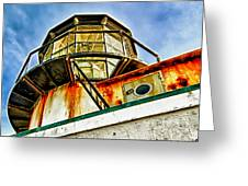 Point Bonita Lighthouse Greeting Card by Robert Rus